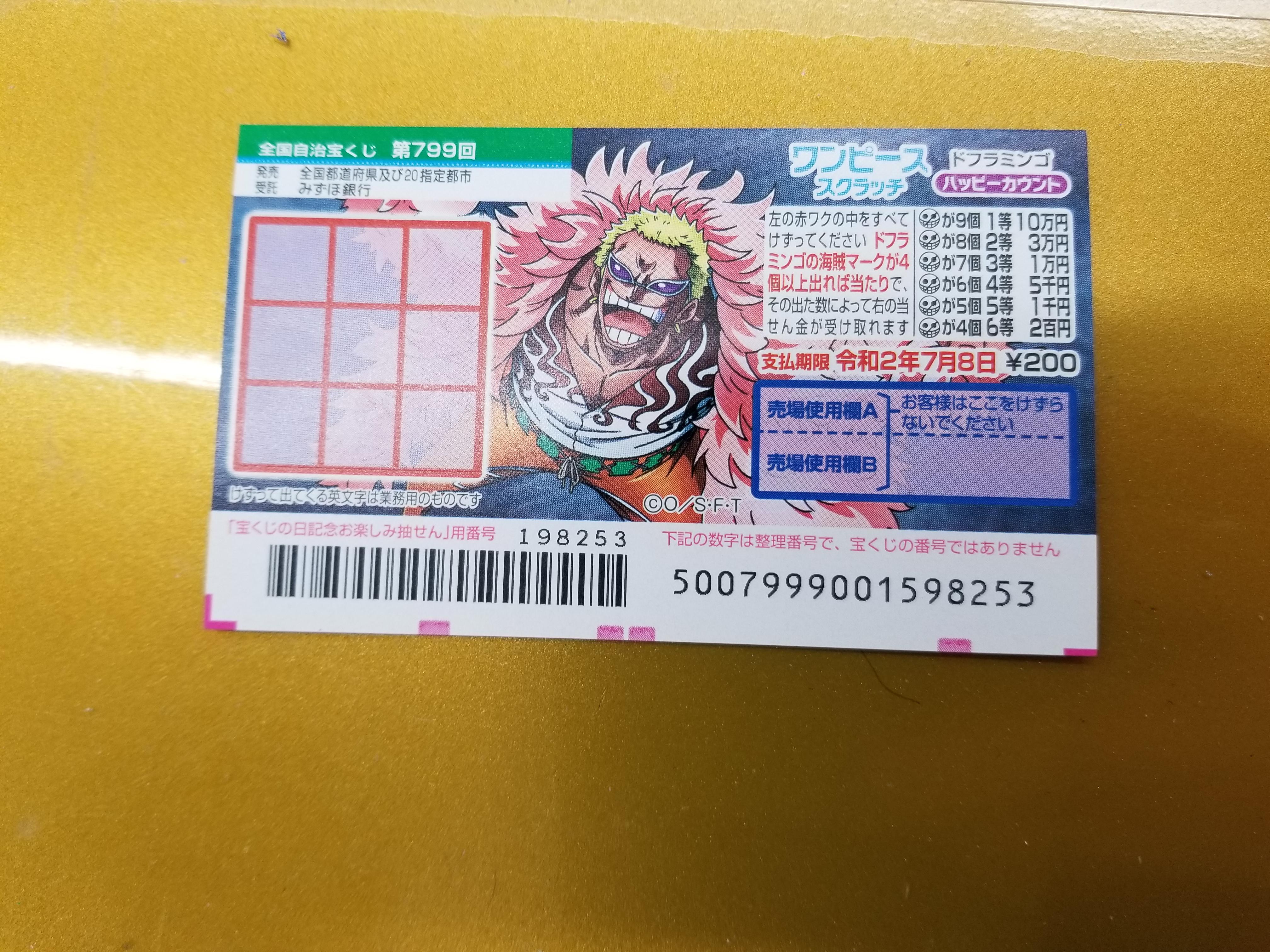 みずほ 番号 案内 宝くじ 銀行 当選